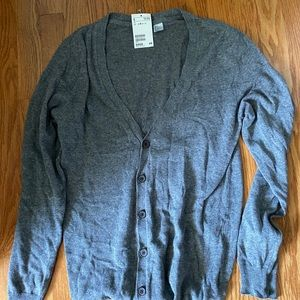 H&M Men's Grey Cardigan (S)